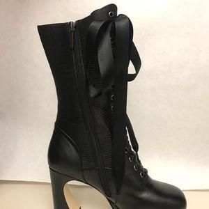 Shoes - Lash Hippie High Lace up Block Knee Boots
